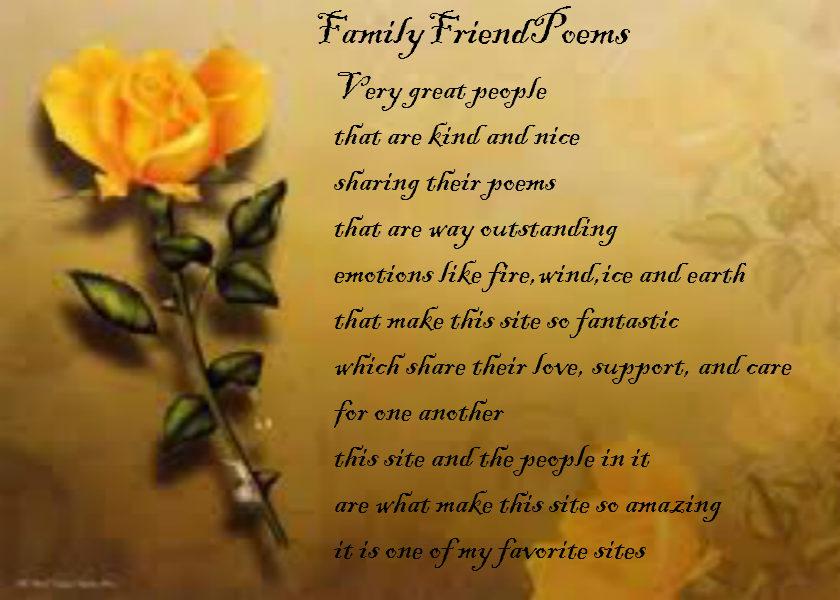 Familyfriendpoems Poems About Friendship