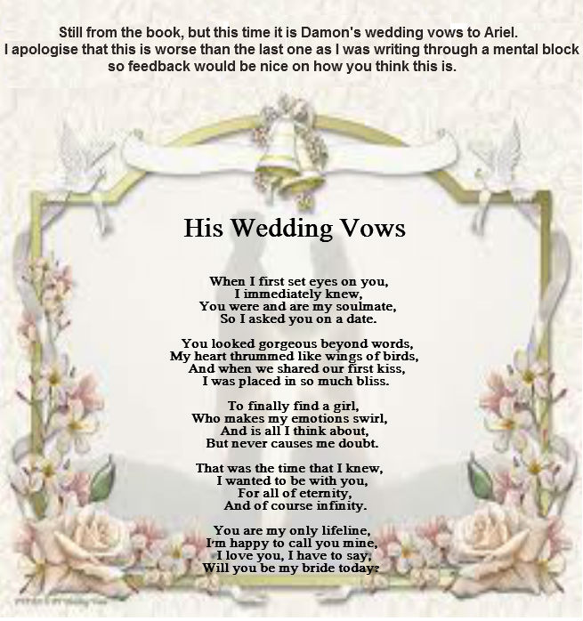 Wedding Vows And Poems