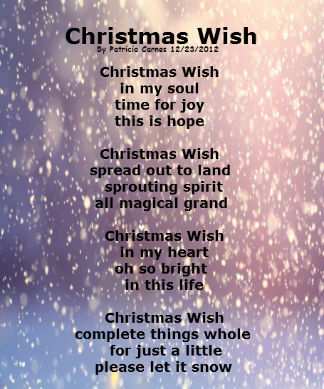 A Christmas Wish.Christmas Wish Picture Poems