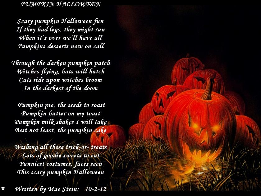 PUMPKIN HALLOWEEN - Holiday Poems