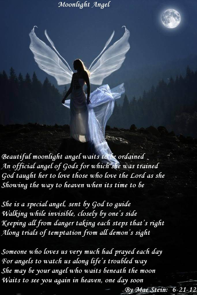 This is about an angel who is being taught to be one as God's helper. Hope  you like it...Hugs and God Bless