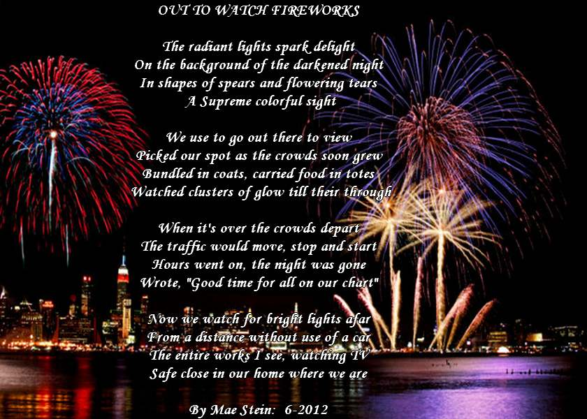 OUT TO WATCH FIREWORKS - Holiday Poems