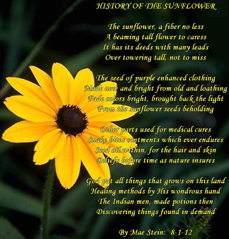 Poems About Sunflowers