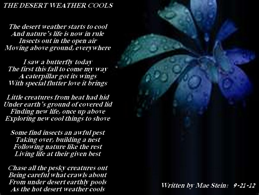 As The Desert Weather Cools Nature Poems
