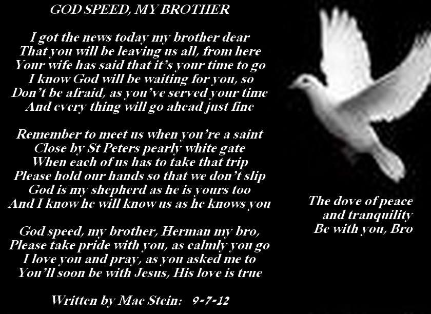 GOD SPEED MY BROTHER - Sad Poetry