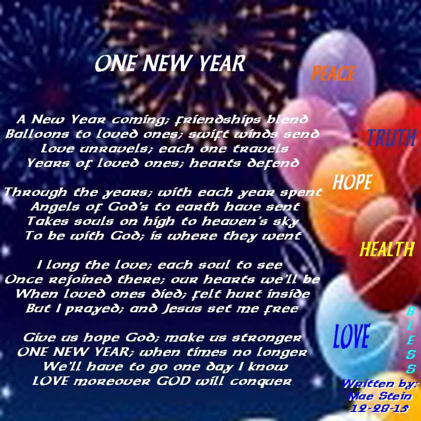 ONE NEW YEAR - Holiday Poems