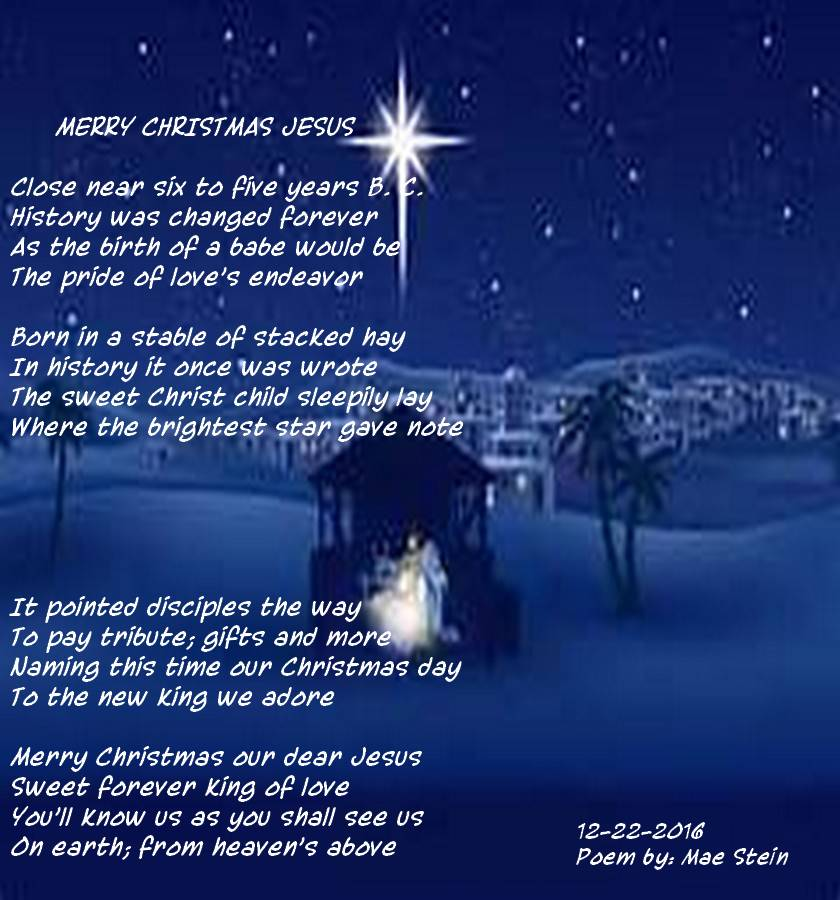 a happy birthday this christmas jesus we love you very much - Merry Christmas From Heaven Poem