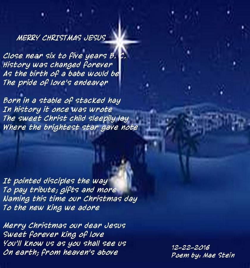 Christmas Jesus.Merry Christmas Jesus Holiday Poems