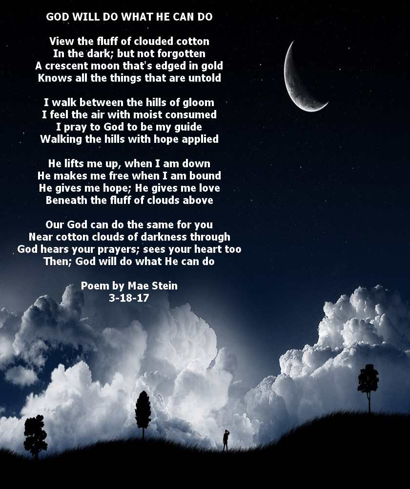 GOD WILL DO WHAT HE CAN DO - Spiritual Poetry
