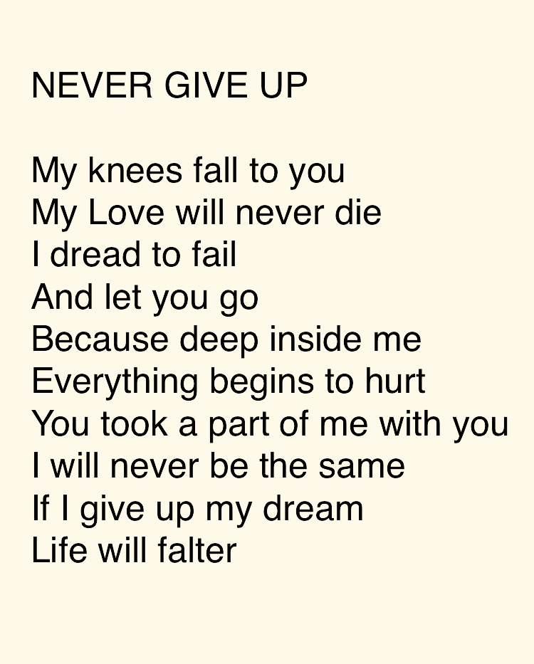 giving up on a relationship poems tumblr