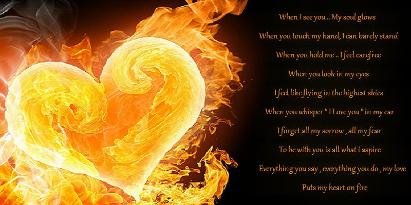 Heart on fire poems about love