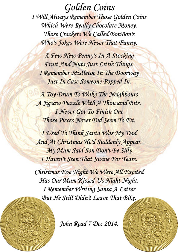 Golden coins holiday poems edited by princecharles on 12082014 124258 am spiritdancerdesigns
