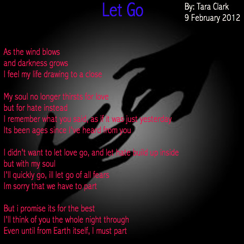 Poems about letting go someone you love