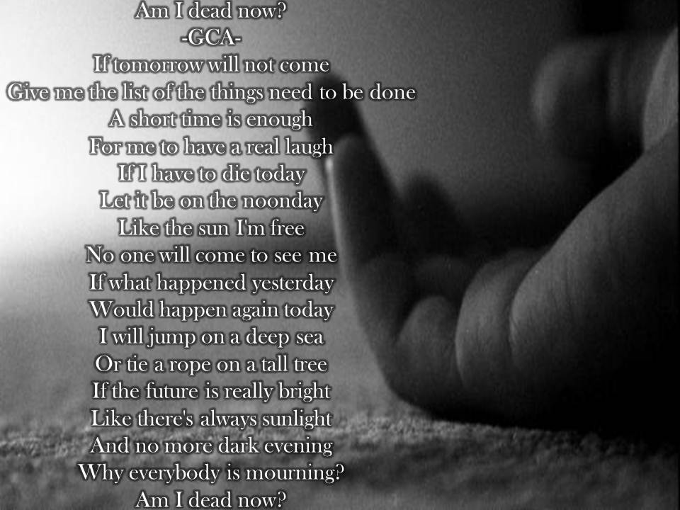 sad death poems - photo #22