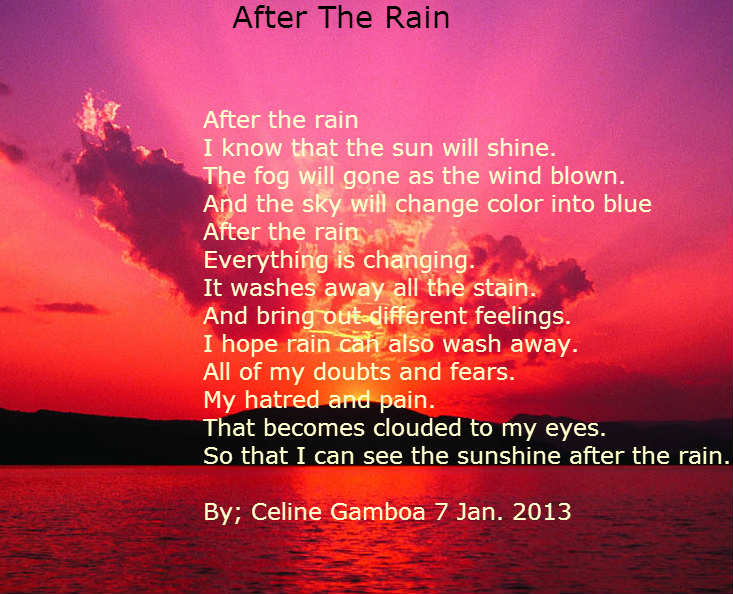 After The Rain - Poems - Teens Only!