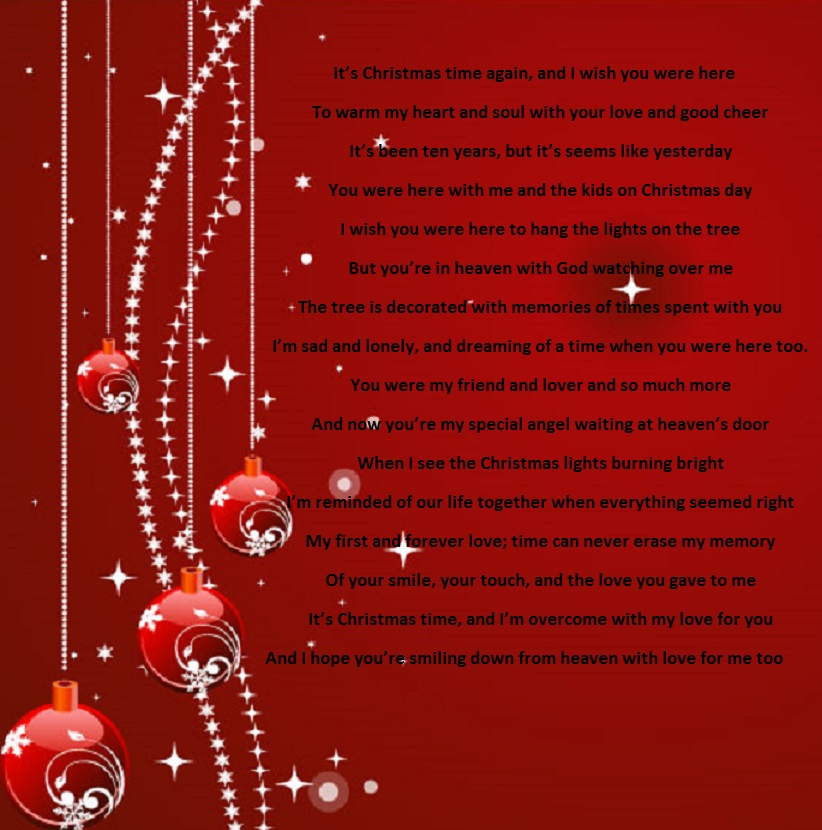 Merry Christmas My Love - Holiday Poems