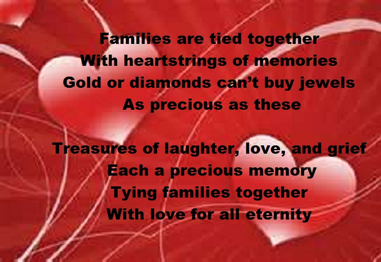 heart strings - poems about family, Ideas