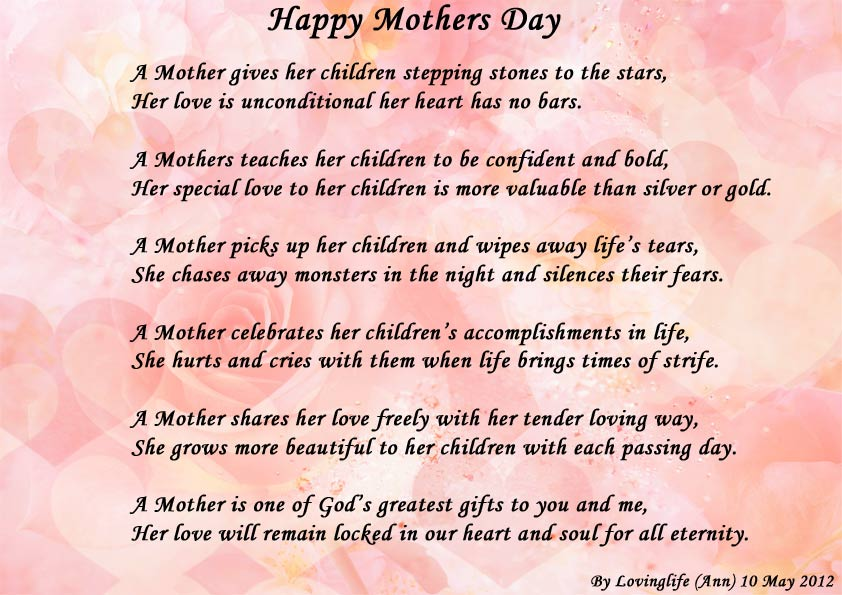 Happy Mothers Day - Poems about Family