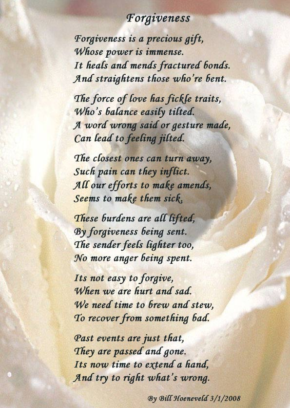 Love and forgiveness poems