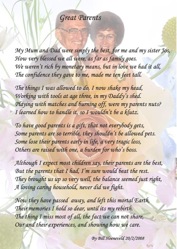 Great Parents - Poems about Family