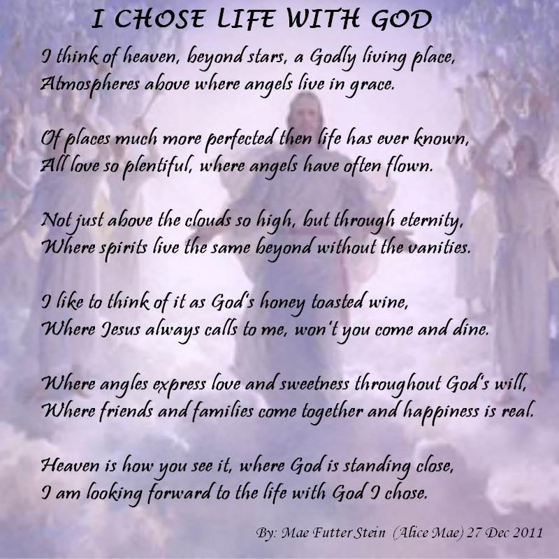 I CHOSE LIFE WITH GOD - Spiritual Poetry