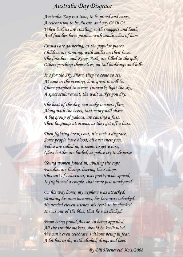 poems about australian identity This poem is about the aboriginal rights and what these native australians would  want,  the text contribute to our understanding of the australian identity in a.