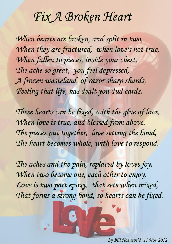 fix a broken heart poems about love