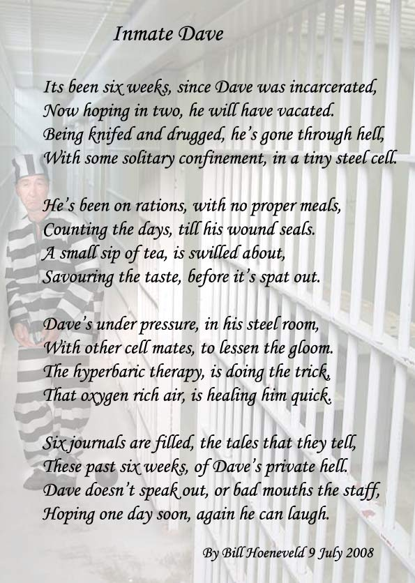 in detention poem essay Descriptive piece - prison extracts from this document introduction description of a prison the walls closed in this essay is a very successful attempt to evoke the feelings of despair and hopelessness of a condemned man the imagery.