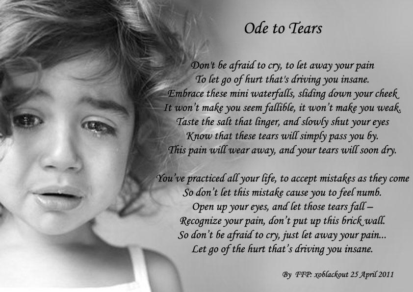 Ode to Tears - Sad Poetry