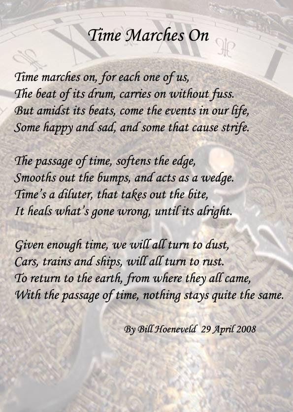Time Marches On Spiritual Poetry