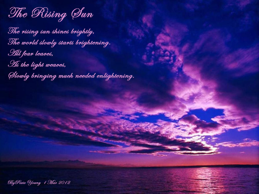 a review of the poem the sun rising Read john donne's poems john donne was born in 1572 in london, england he is known as the founder of the metaphysical poets , a term created by samuel johnson, an eighteenth-century english essayist, poet, and philosopher.