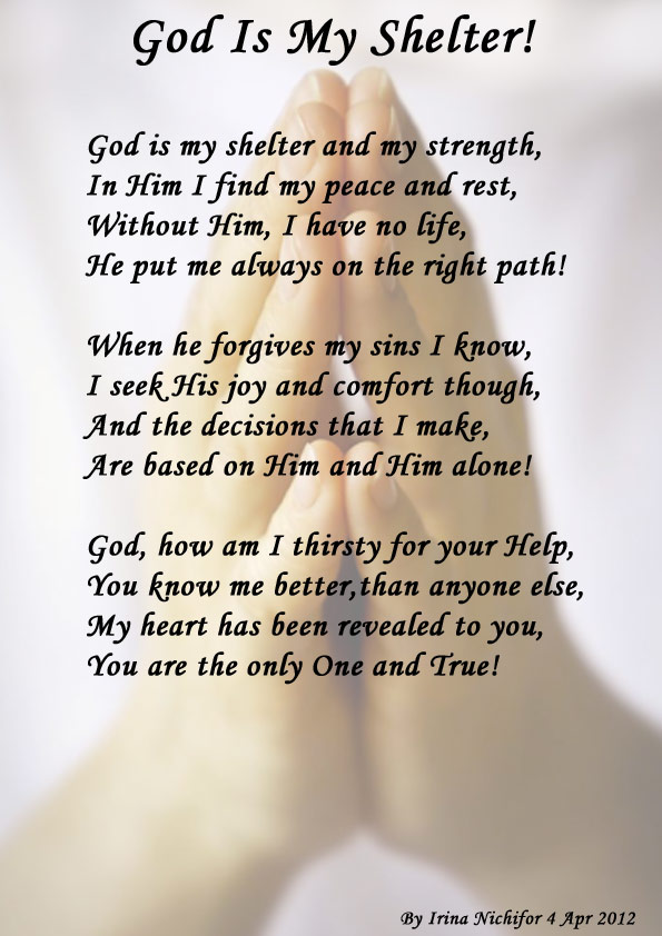 God is my shelter! - Spiritual Poetry