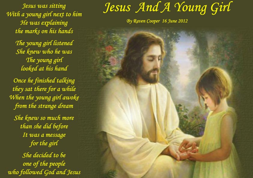 Jesus and a young girl - Spiritual Poetry