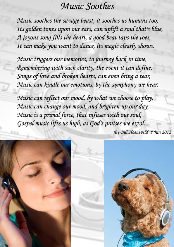 Music Soothes - Spiritual Poetry