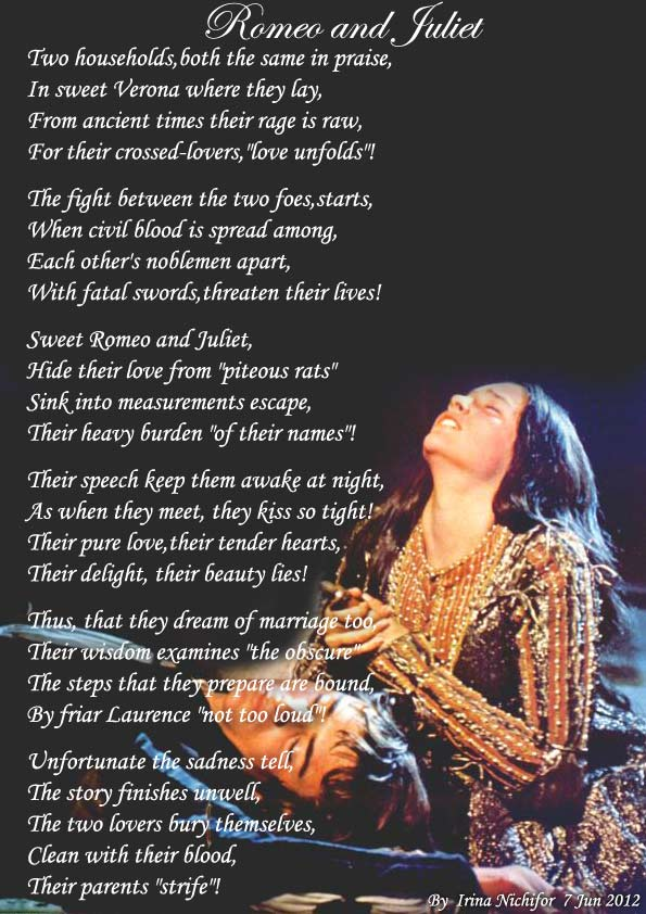 Romeo and Juliet! - All types of Poetry