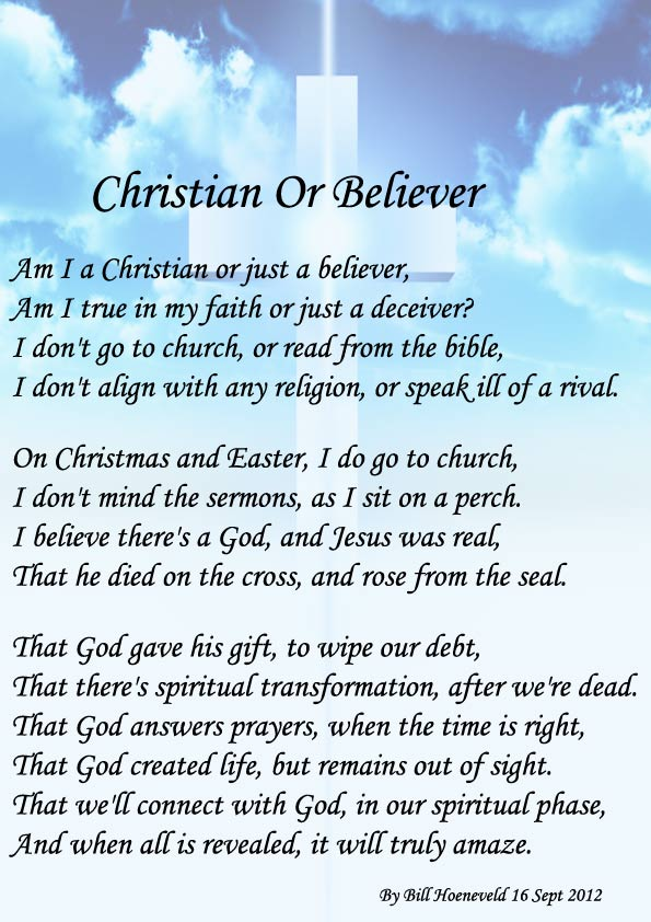 Christian Or Believer Spiritual Poetry