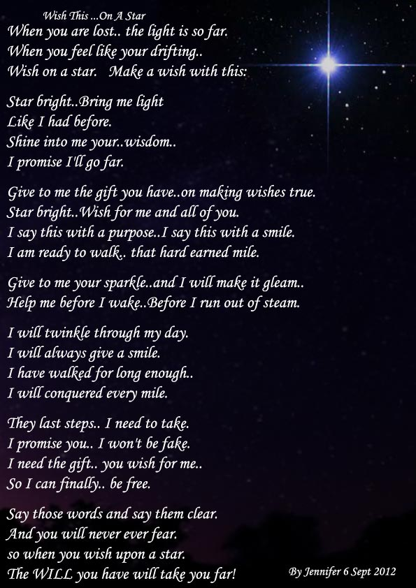 Upon a star poem wish When You