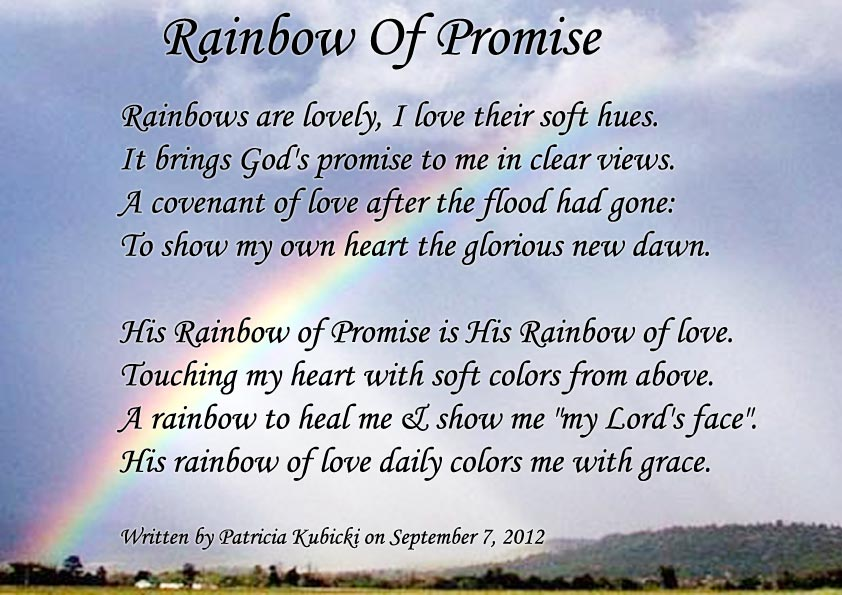 Quot Rainbow Of Promise Quot Spiritual Poetry