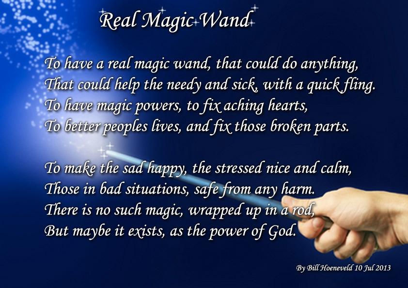 Real Magic Wand - Spiritual Poetry