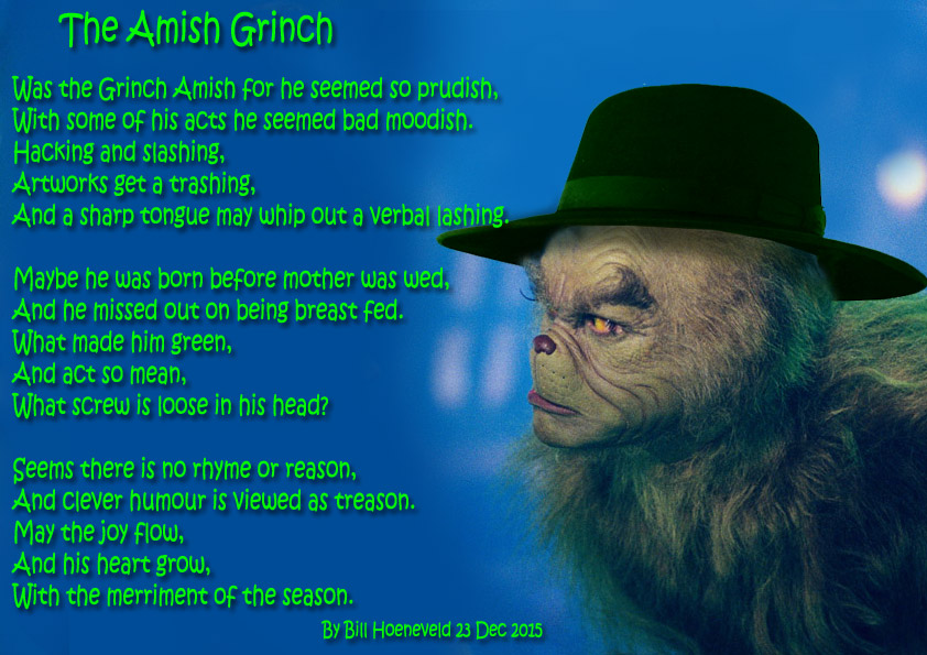 The Amish Grinch - Anger Poems - What makes you angry?