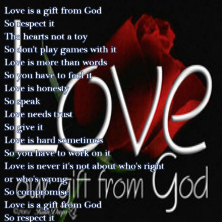 Love is a gift from God - All types of Poetry