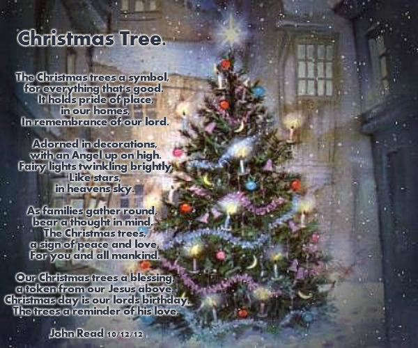 Poem About A Christmas Tree: Christmas Tree.